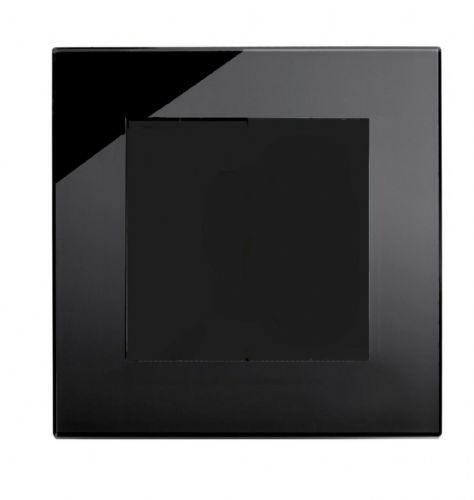 RetroTouch Single Blank Plate Black Glass PG 00312